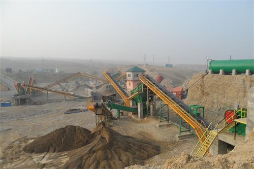 塔吉克斯坦时产100吨鹅卵石制砂机生产线